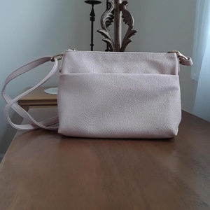 Blush color faux leather purse
